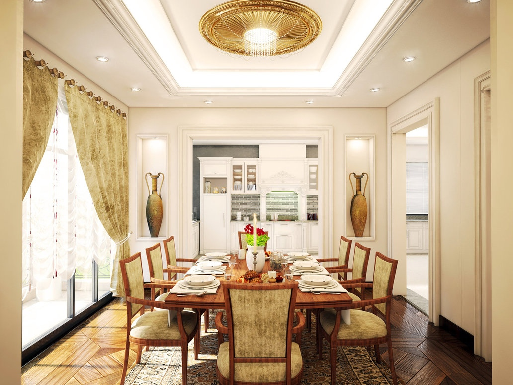 30 elegant traditional dining design ideas dwelling decor for Traditional dining room art