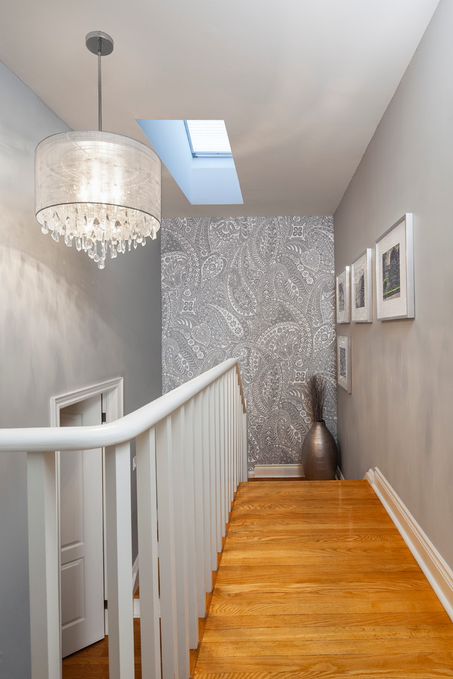 Wallpaper decoration for stairway landing