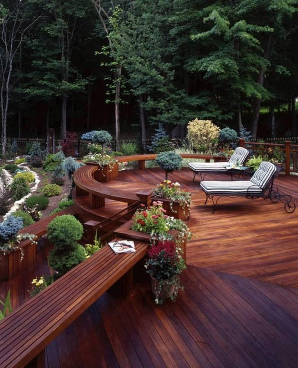 30 outstanding backyard patio deck ideas to bring a for Backyard patio design ideas