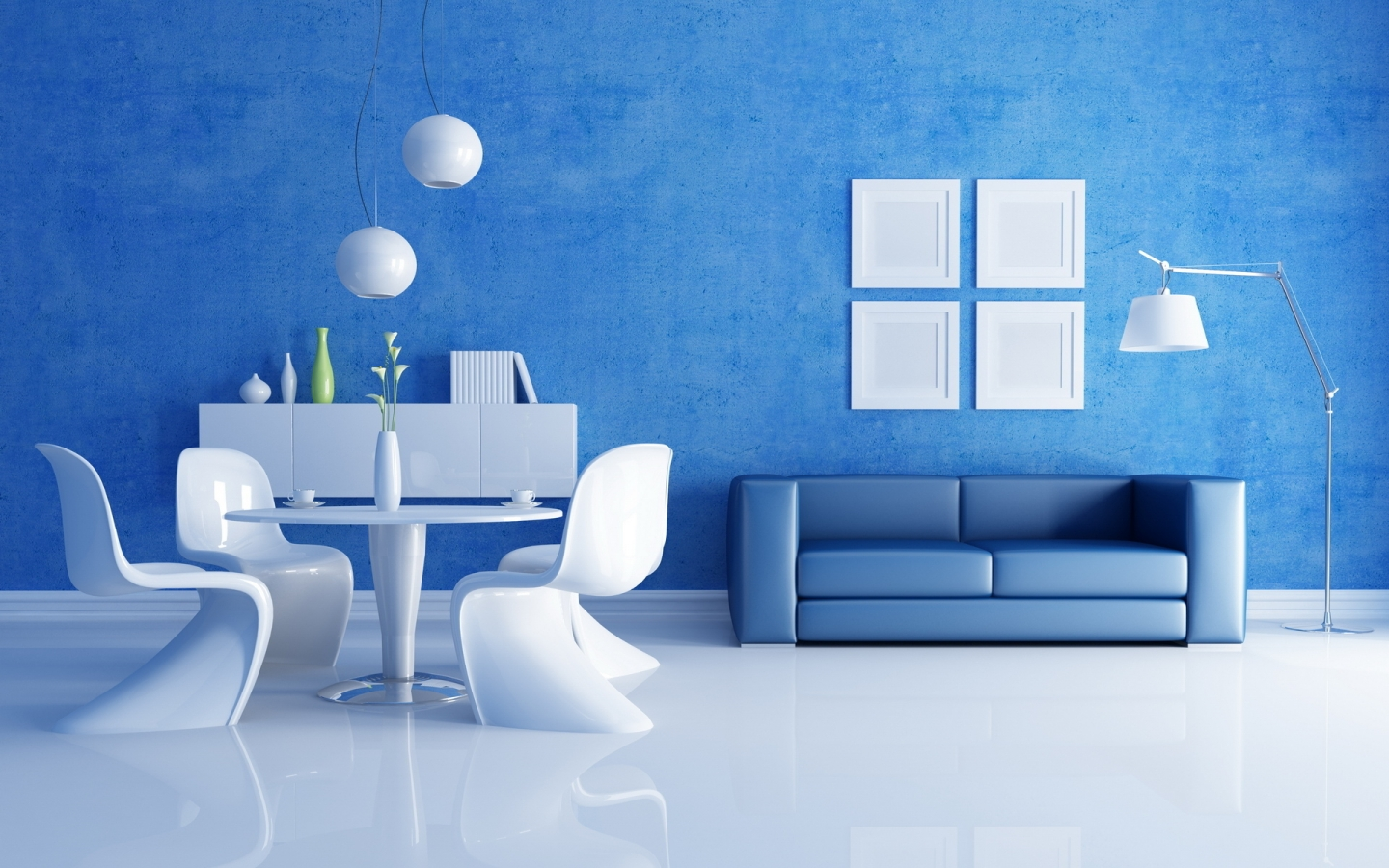 blue paint colors and white decorating ideas