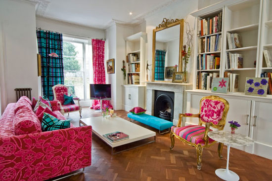 colorful quirky living room