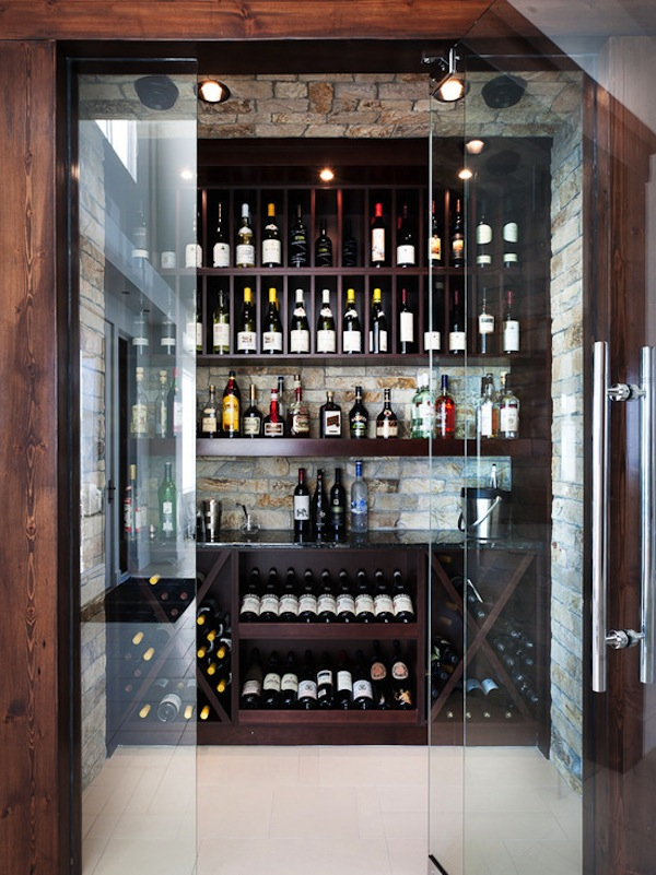compact wine cellar design