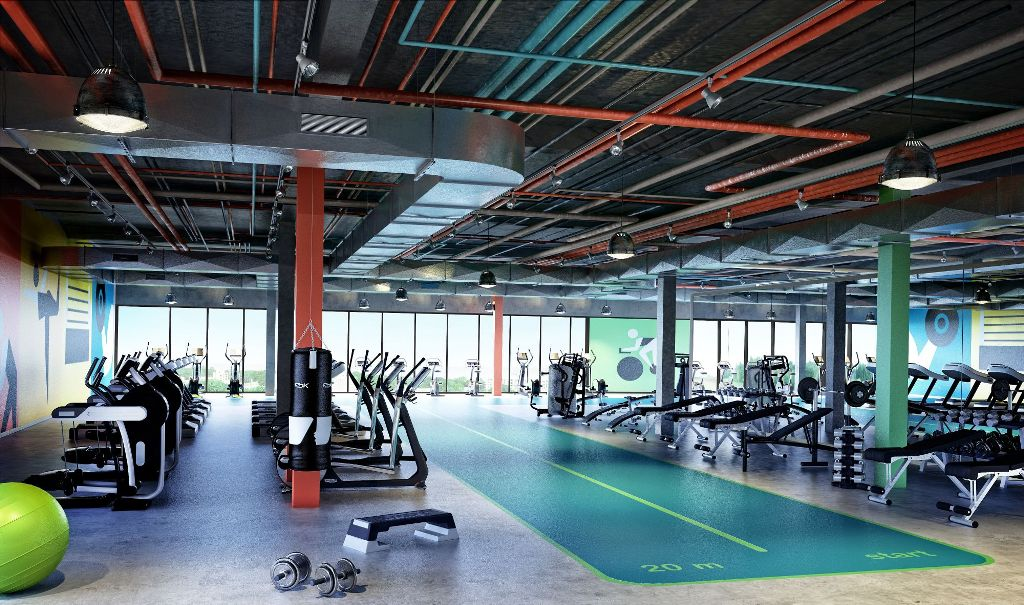 gym interior concept design