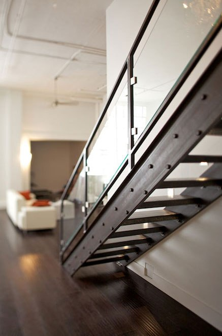 loft-nice-stair-with-glass-baluster