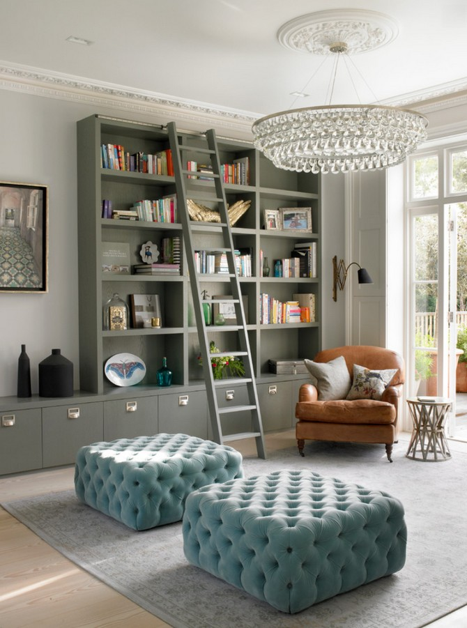 modern hom design with tufted furniture