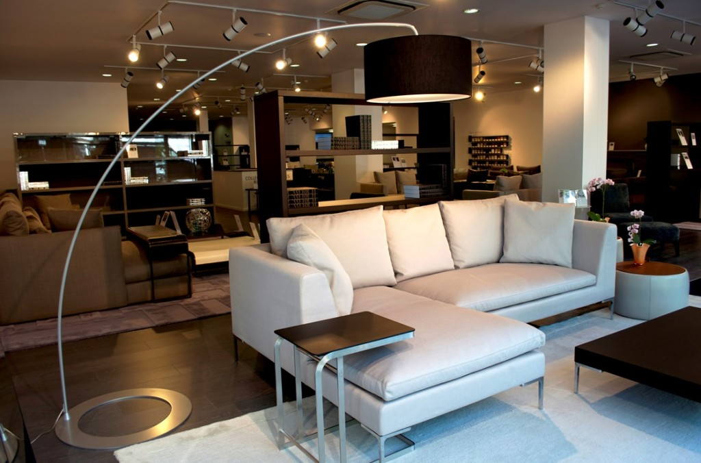 modern living room ideas with stylish white sofa