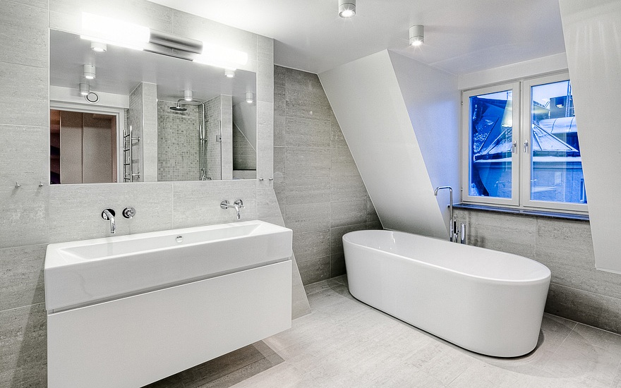 small ultra modern bathroom