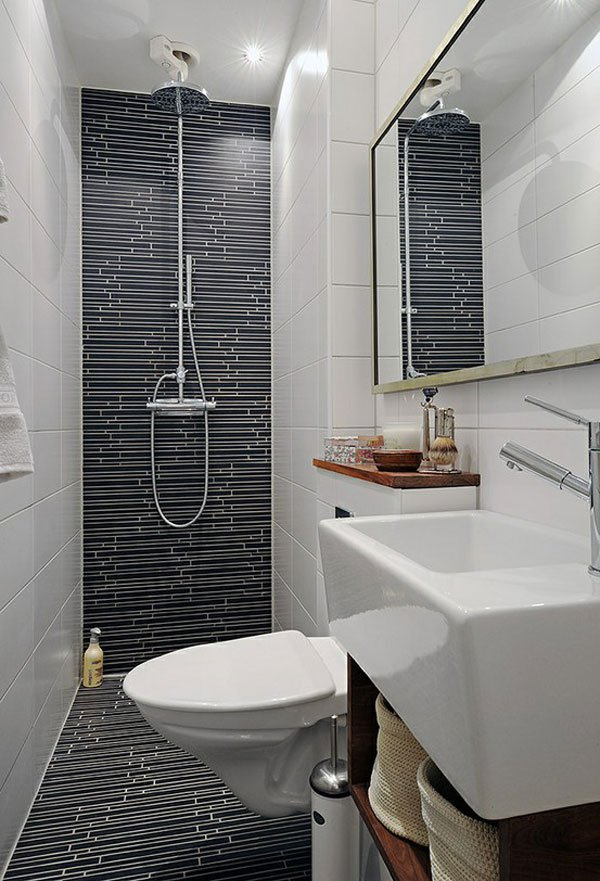 Tiny Contemporary Bathroom Bathroom
