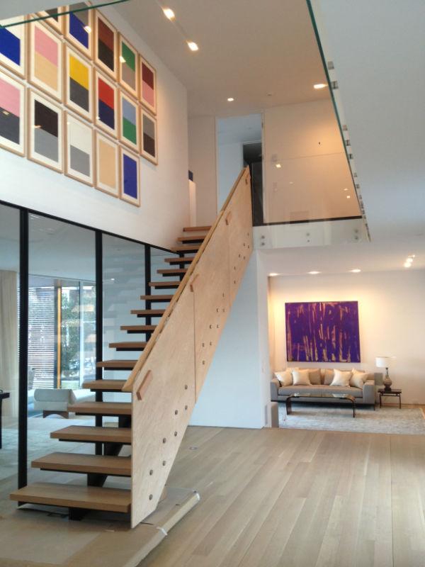 wall stairway modern loft