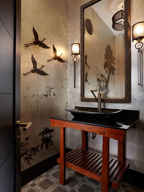 Asian Powder Room Design Ideas