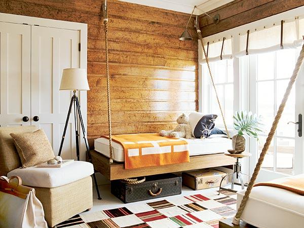 Beach-Inspired Bunk Room