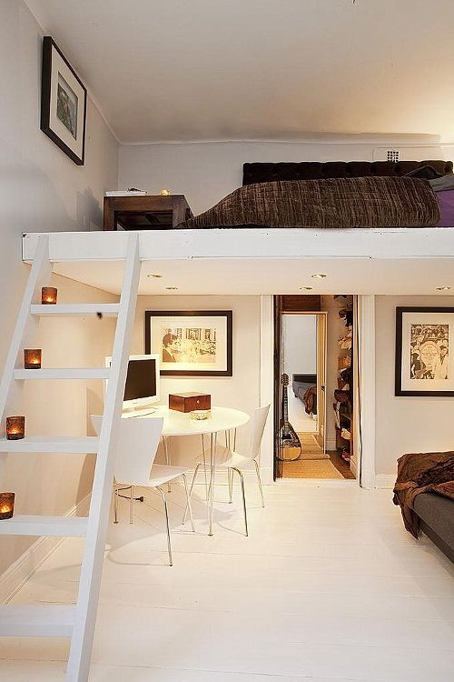Chic loft bedroom design