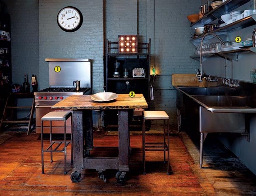 25 best industrial kitchen ideas to get inspired - Industrial kitchen tables ...