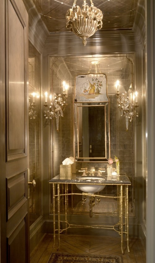 45 luxurious powder room decorating ideas
