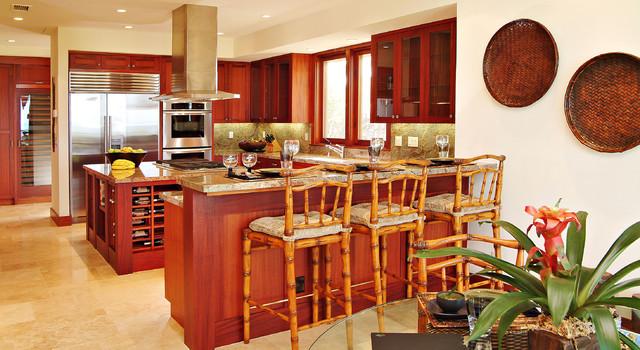 Kitchen Breakfast Bar tropical-kitchen