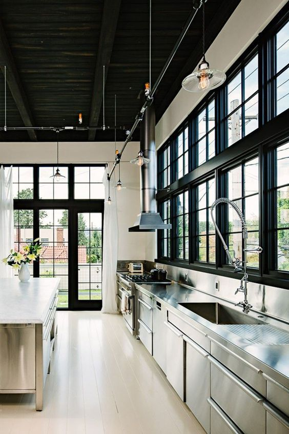 LIGHTING FOR YOUR KITCHEN 25 Awesome Industrial Kitchen Design Ideas.  industrial modern kitchen designs.