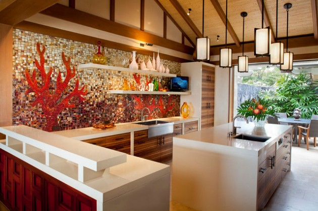Lovely Tropical Kitchen