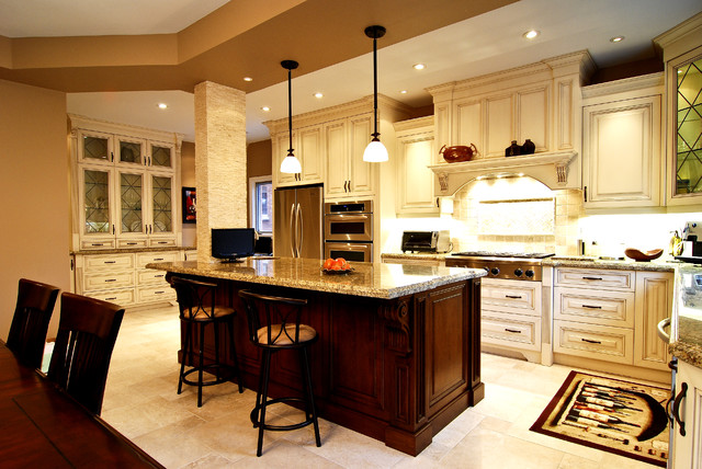 Luxury European Kitchen traditional-kitchen