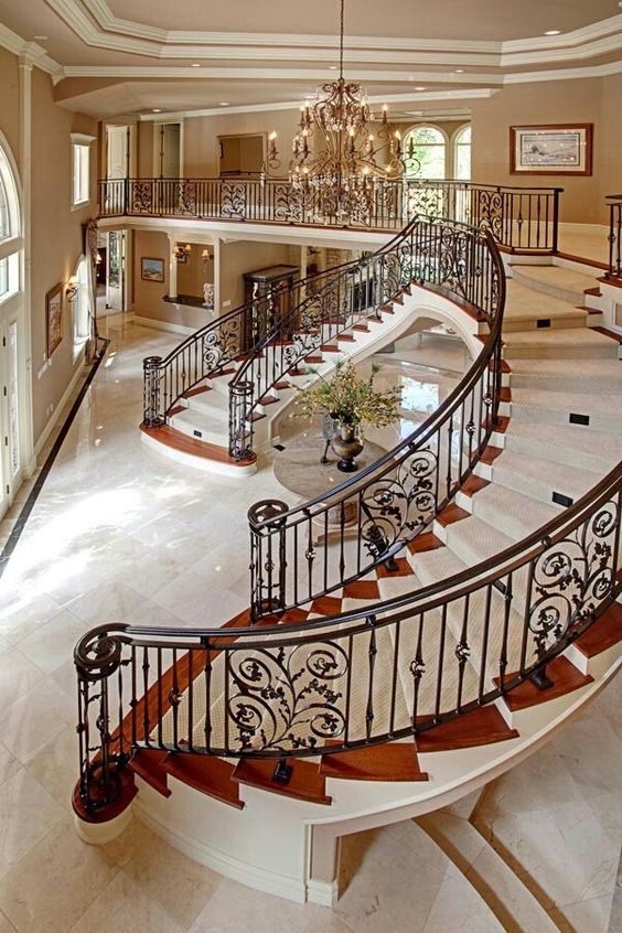 Beautiful Mansion Foyers : Luxury foyer decorating and design ideas