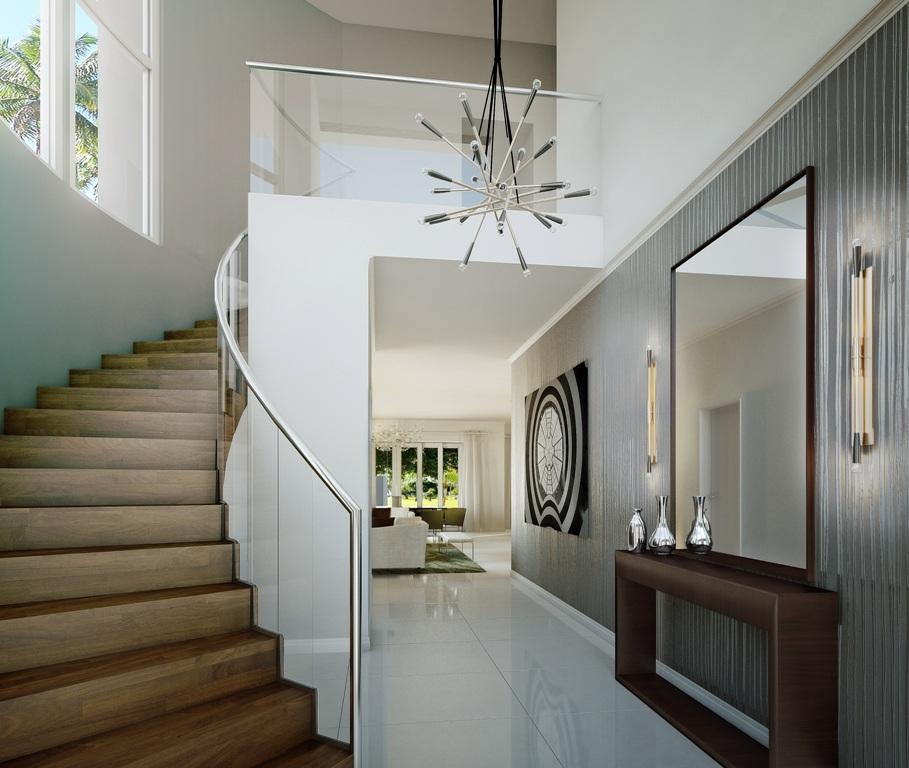 Modern Luxury Foyer : Modern design foyer