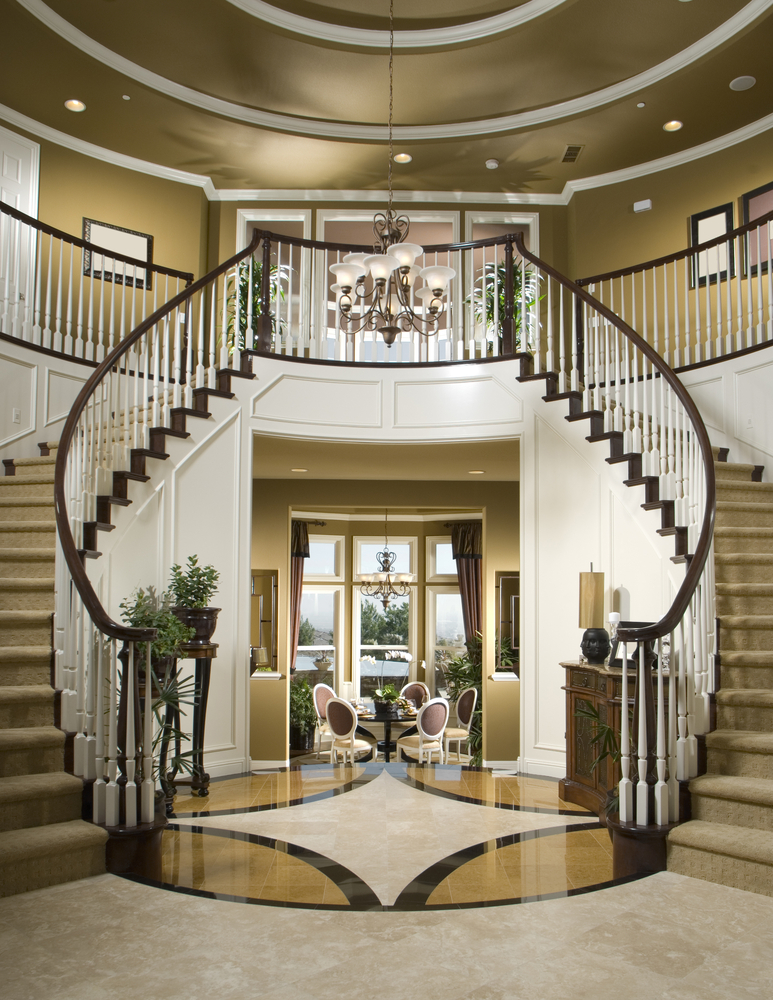 Small Foyer Stairs : Luxury foyer decorating and design ideas