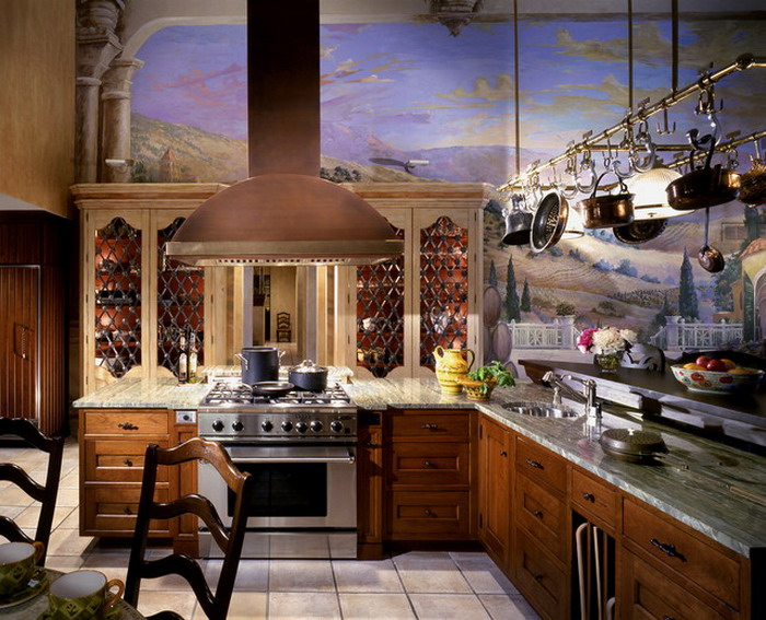 Mediterranean Kitchen Wall Murals