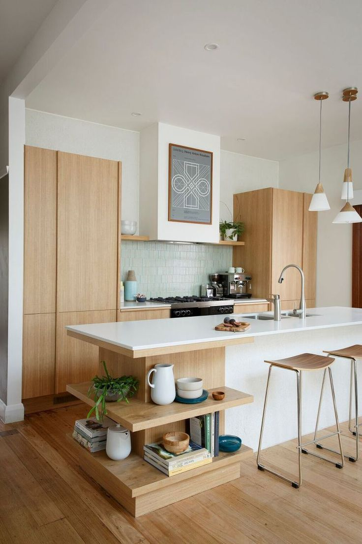 35 sensational modern midcentury kitchen designs for Simple modern kitchen cabinets