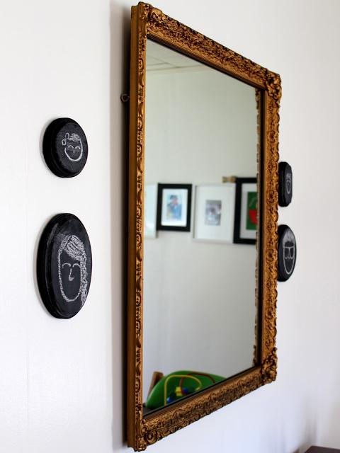 Mini chalkboard portraits