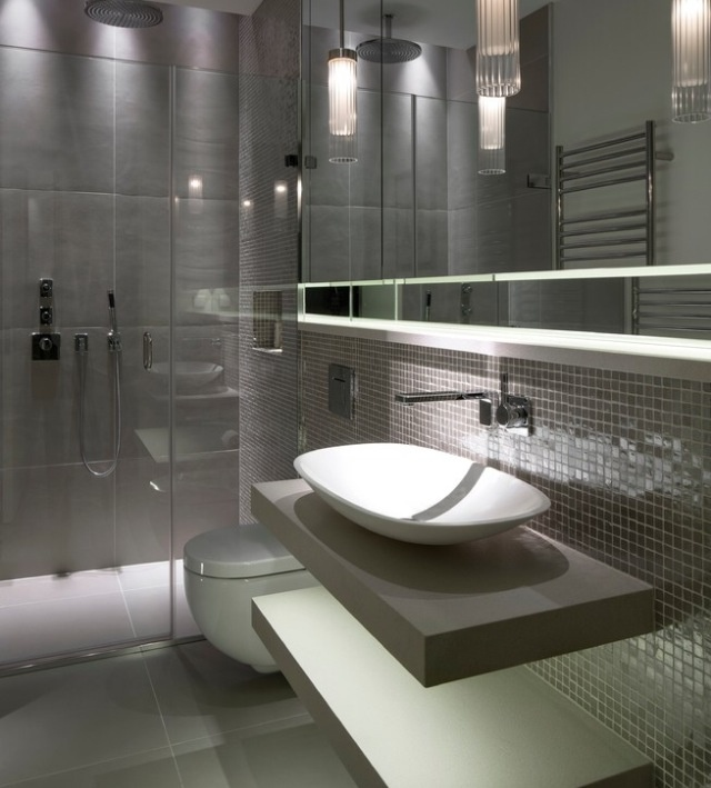 Bathroom Tiles Design Grey : Classy and pleasing modern bathroom design ideas