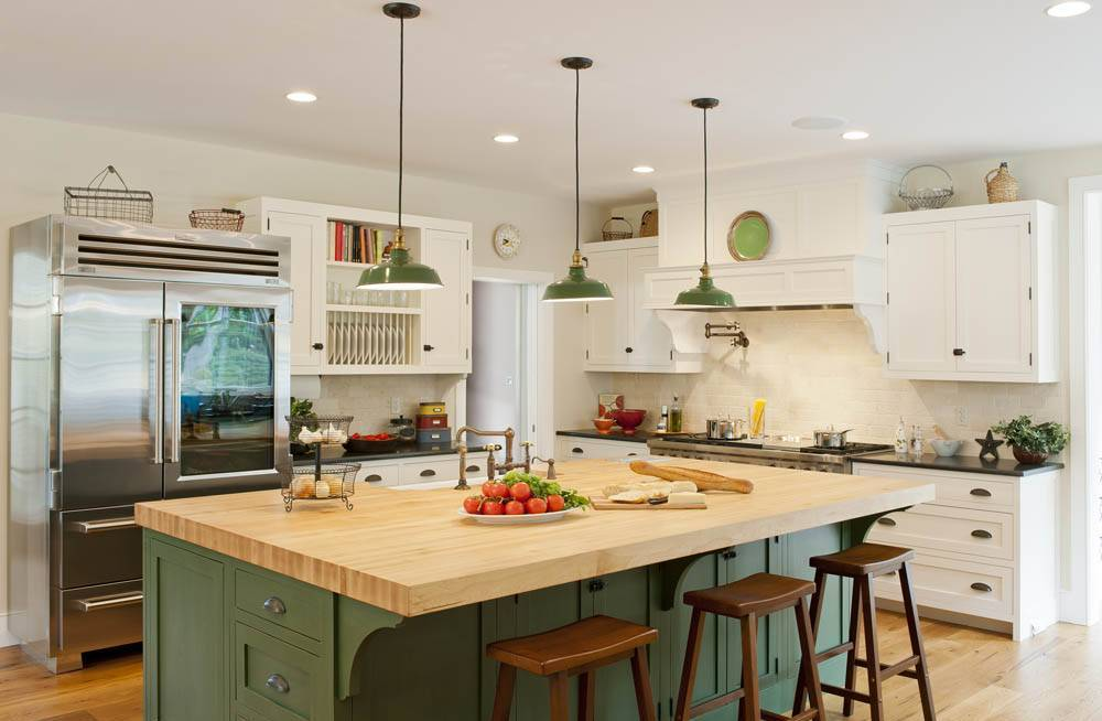 Modern Farmhouse Kitchen with Stainless Steel Oven Stove