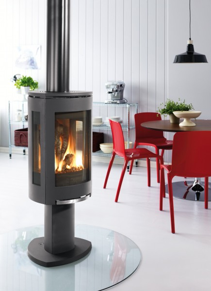 Modern Fireplace With Awesome Freestanding Fireplaces