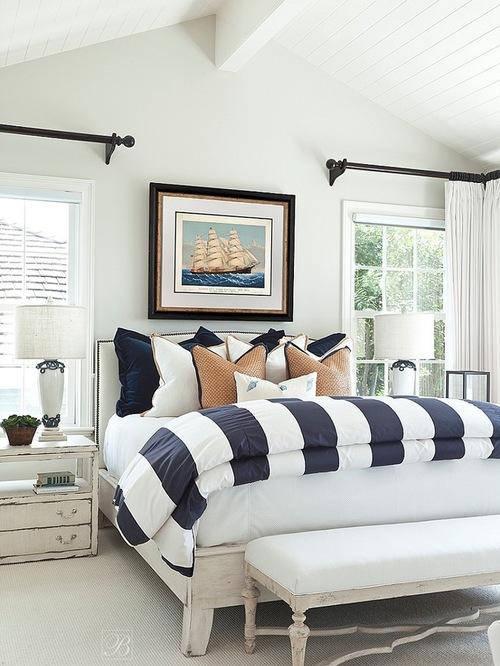 Navy Blue Bedroom Home Design