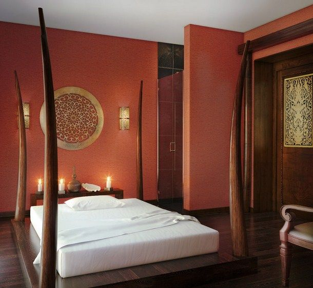 The beauty and style of asian bedroom designs for Interior design for bedroom red