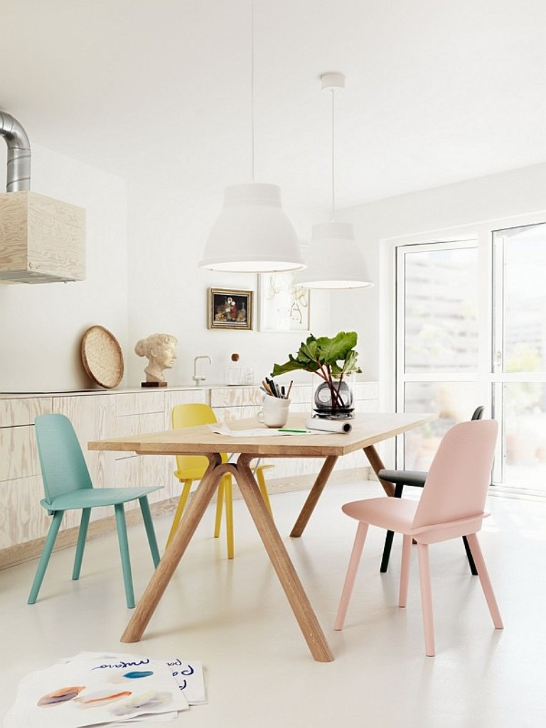 Pastel Scandinavian Dining Room