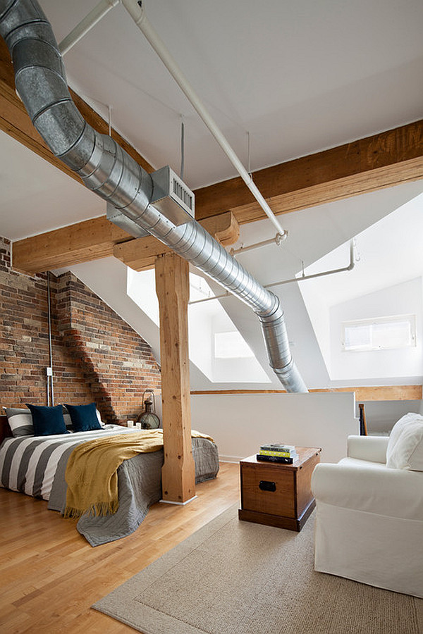 Penthouse loft bedroom