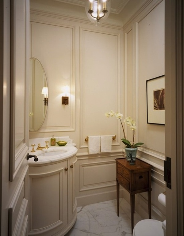 45 luxurious powder room decorating ideas Pretty powder room ideas