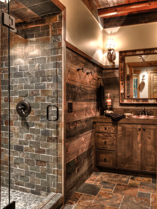 rustic bathroom design decor