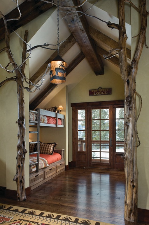 Cabin Bedroom Decor Ideas: 35 Awesome Rustic Style Kid's Bedroom Design Ideas