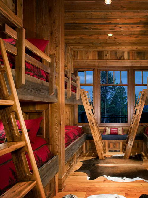 Rustic-Shared-Bedroom-Design-for-Kids-Children