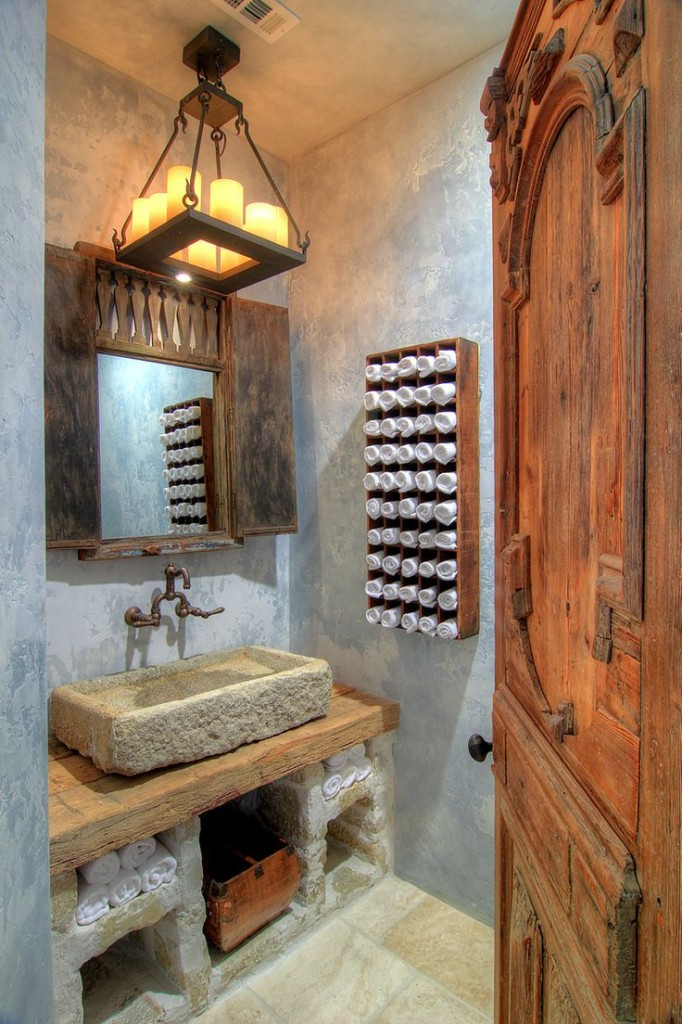 25 rustic bathroom decor ideas for urban world Rustic bathroom decor ideas