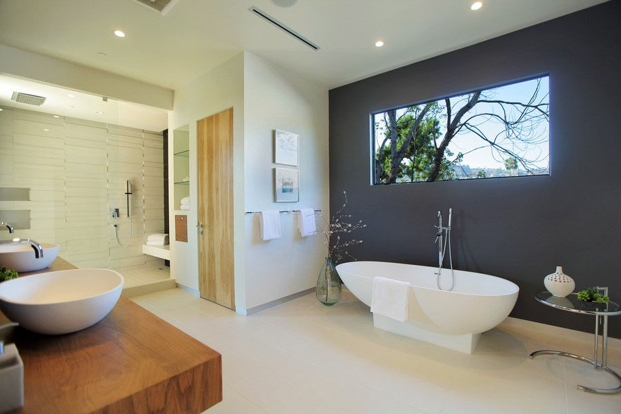 30 classy and pleasing modern bathroom design ideas for New style bathroom designs