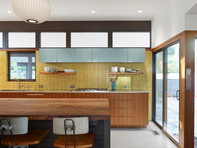 35 sensational modern midcentury kitchen designs - Modern tile kitchen design ...