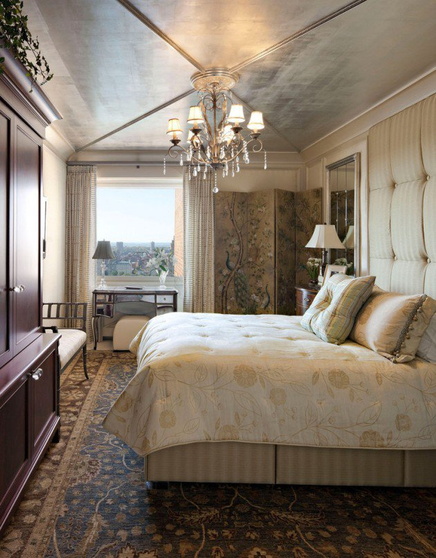 Traditional Bedroom Design with florr coverd carpet