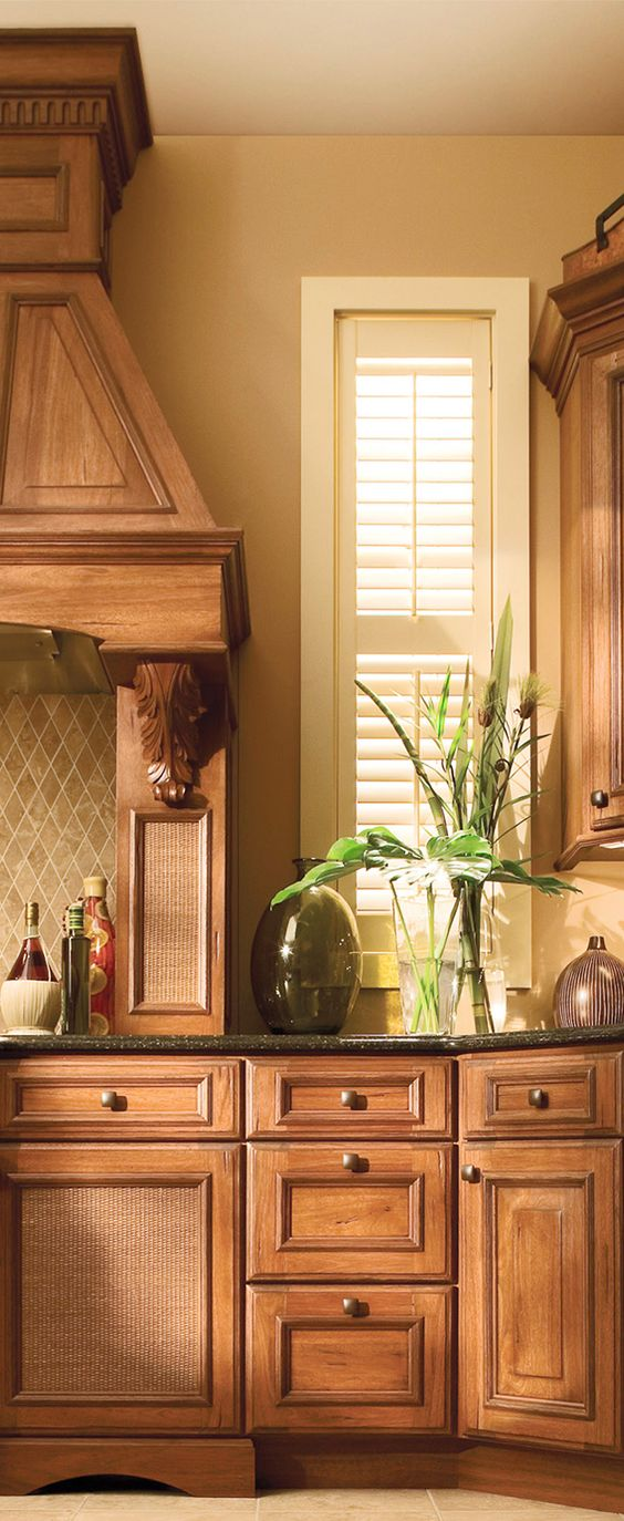 Tropical Kitchen with Cabinetry