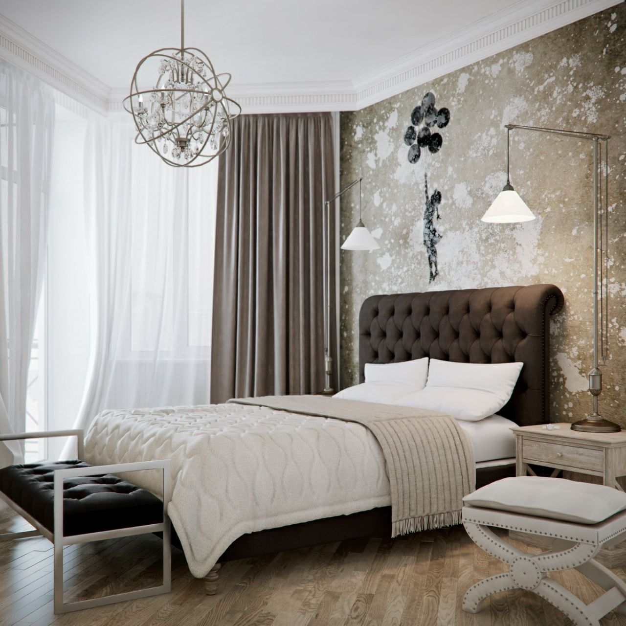 Tufted headboard Bedroom Ideas