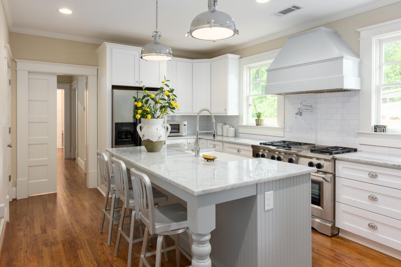 White Farmhouse Kitchen With Industrial Elements