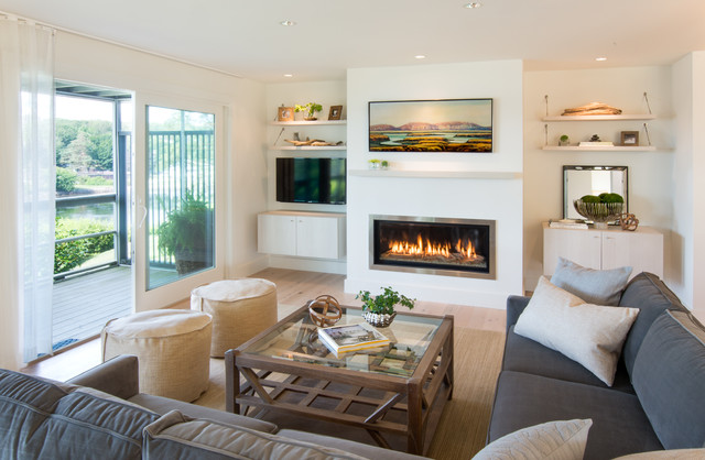 Bring the shore into home with beach style living room for Living room design styles