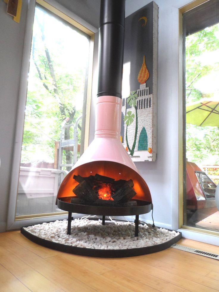 beautiful Freestanding Fireplace