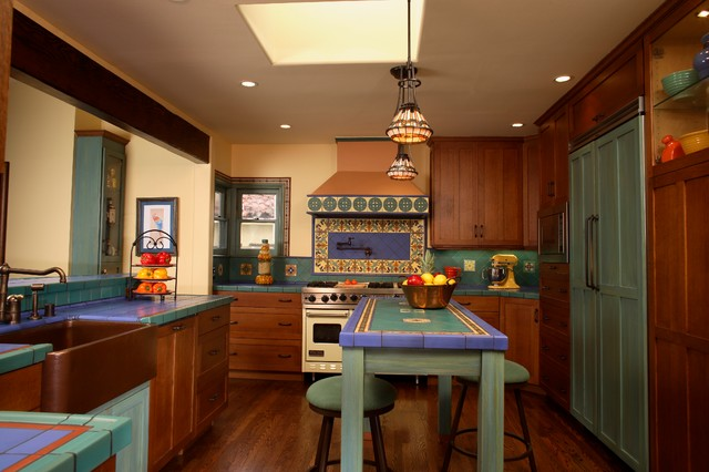 california spanish Kitchen Design