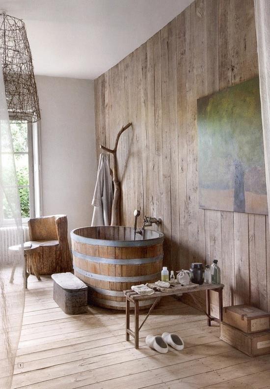 25 rustic bathroom decor ideas for urban world. Black Bedroom Furniture Sets. Home Design Ideas